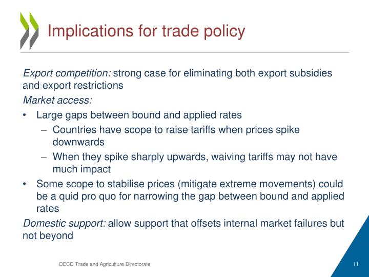 Implications for trade policy
