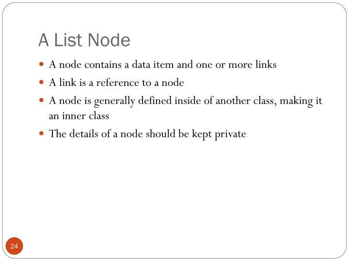 A List Node
