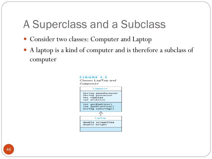 A Superclass and a Subclass