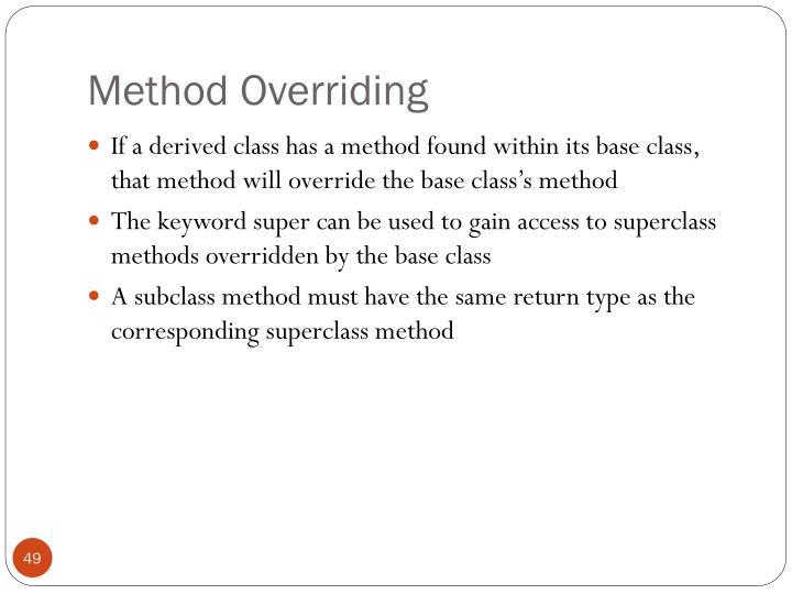 Method Overriding