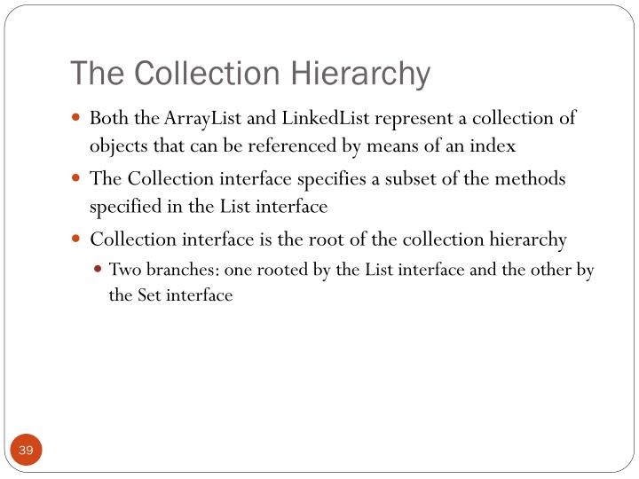 The Collection Hierarchy