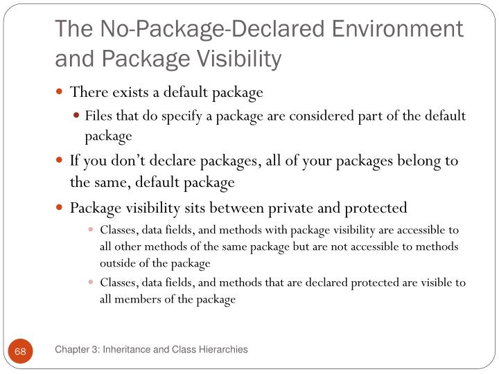 The No-Package-Declared Environment and Package Visibility