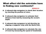 what effect did the astrolabe have in finding new continents