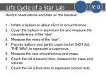 life cycle of a star lab