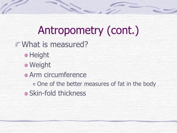 Antropometry
