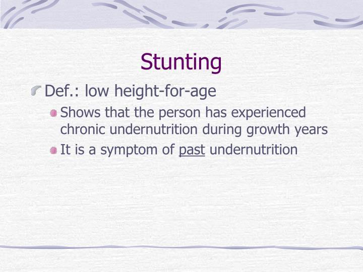 Stunting