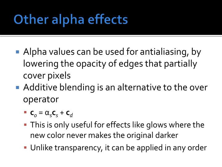 Other alpha effects