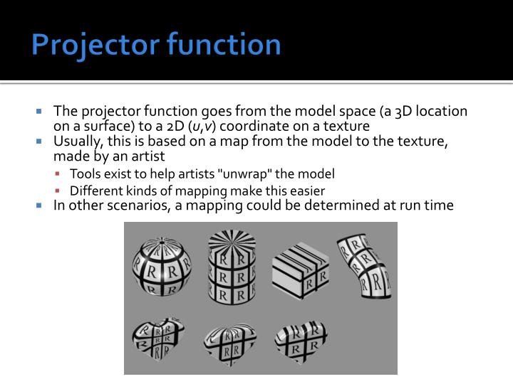 Projector function