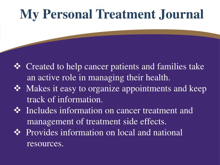 My Personal Treatment Journal