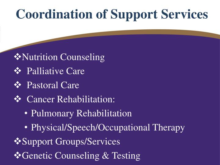 Coordination of Support Services