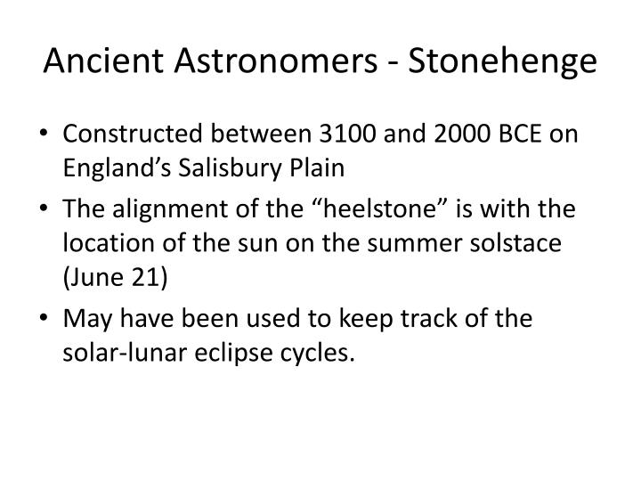 Ancient Astronomers - Stonehenge