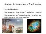 ancient astronomers the chinese