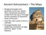 ancient astronomers the maya