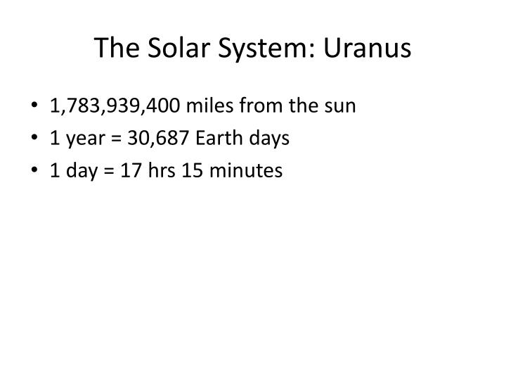 The Solar System: Uranus