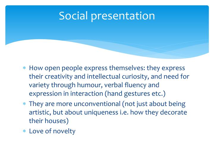 Social presentation