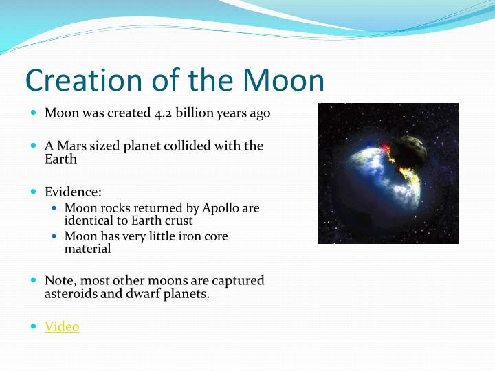 Creation of the Moon