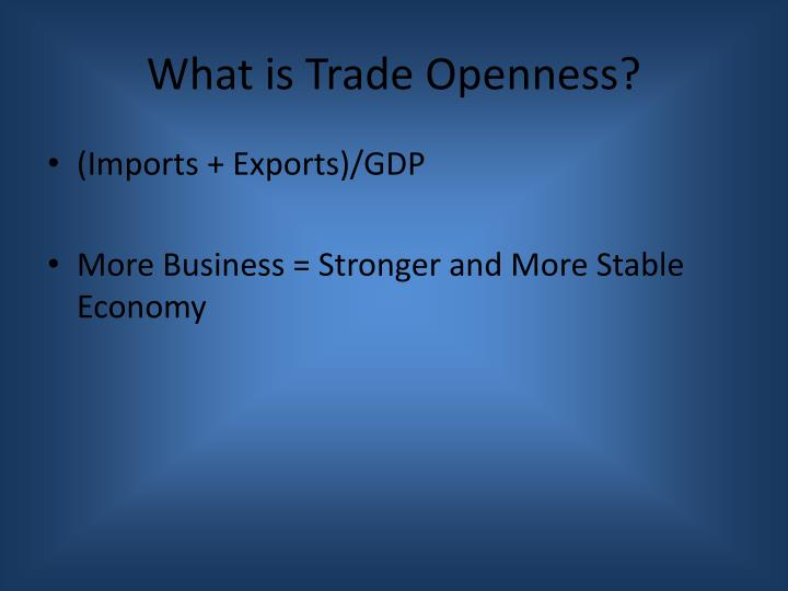 What is trade openness