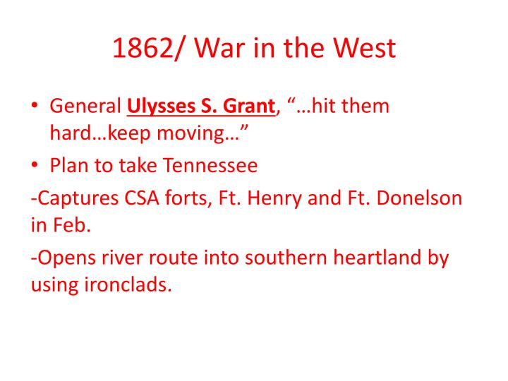 1862/ War in the West