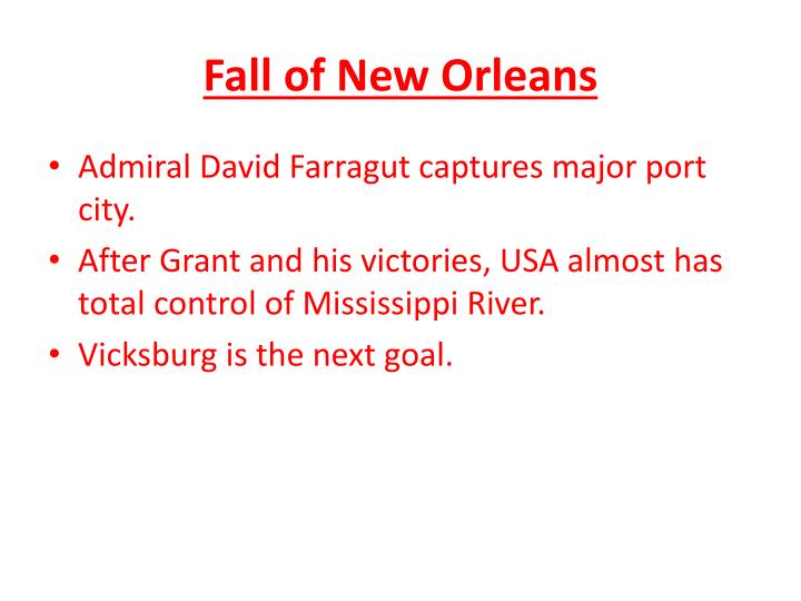Fall of New Orleans