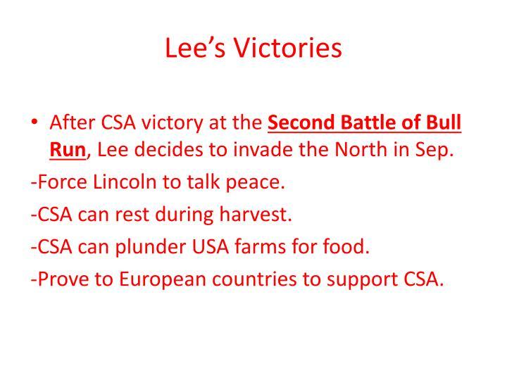 Lee's Victories