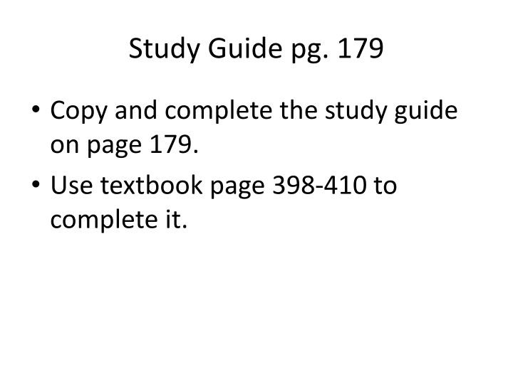 Study Guide pg. 179