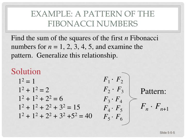 Example: A Pattern of the Fibonacci Numbers