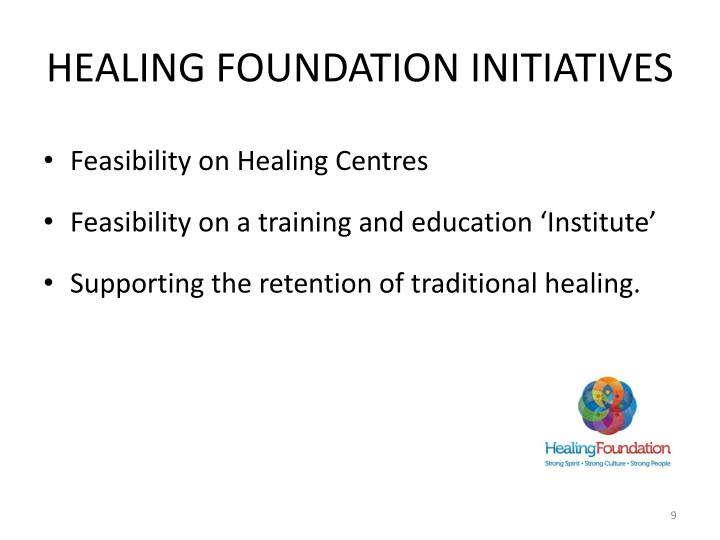 Healing Foundation initiatives