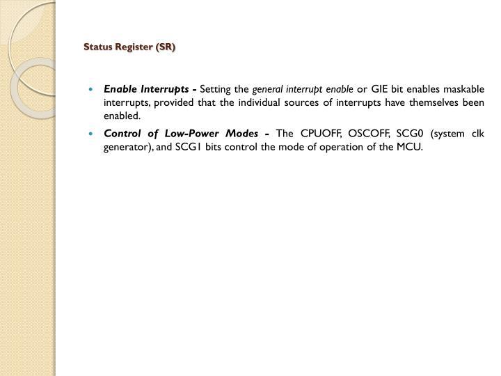 Status Register (SR)