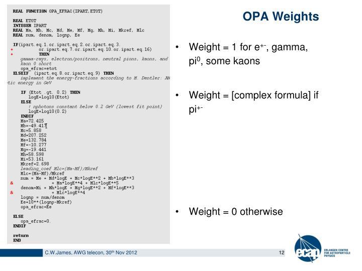 OPA Weights