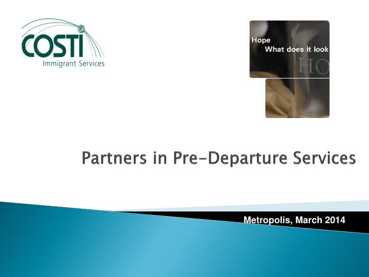 partners in pre departure services