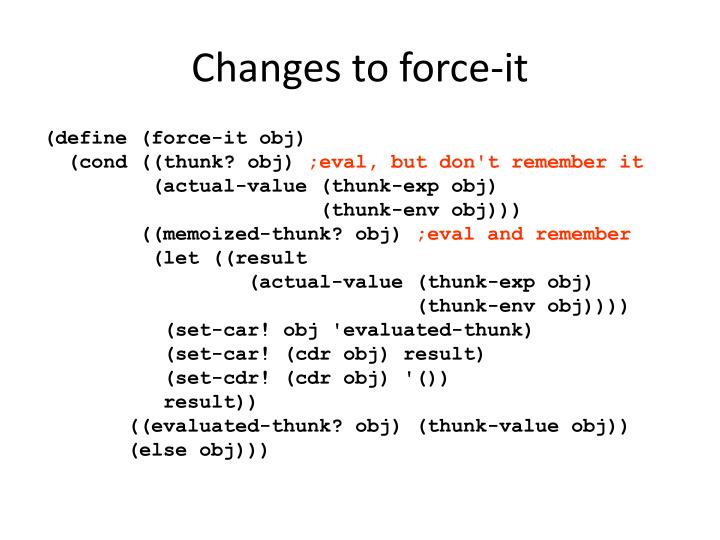 Changes to force-it