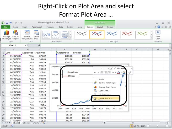 Right-Click on Plot Area and select