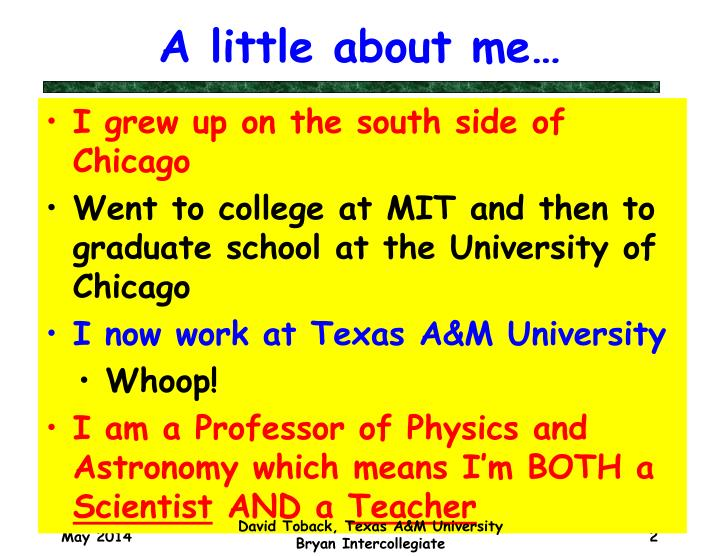 A little about me…