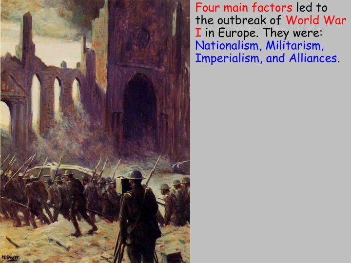 Four main factors