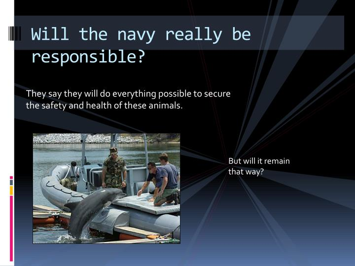 Will the navy really be responsible?