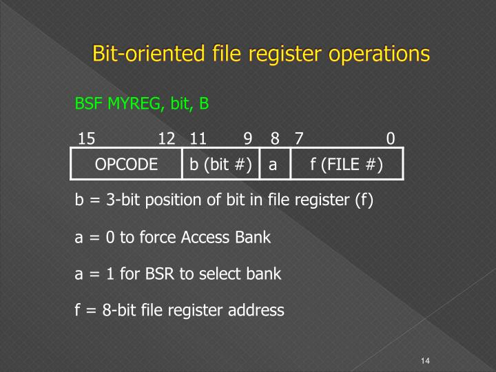 Bit-oriented file register