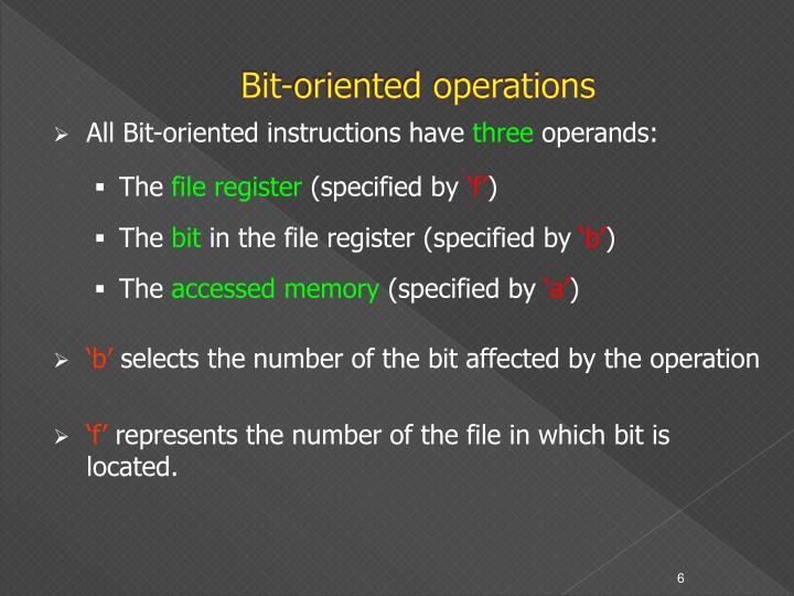 Bit-oriented operations