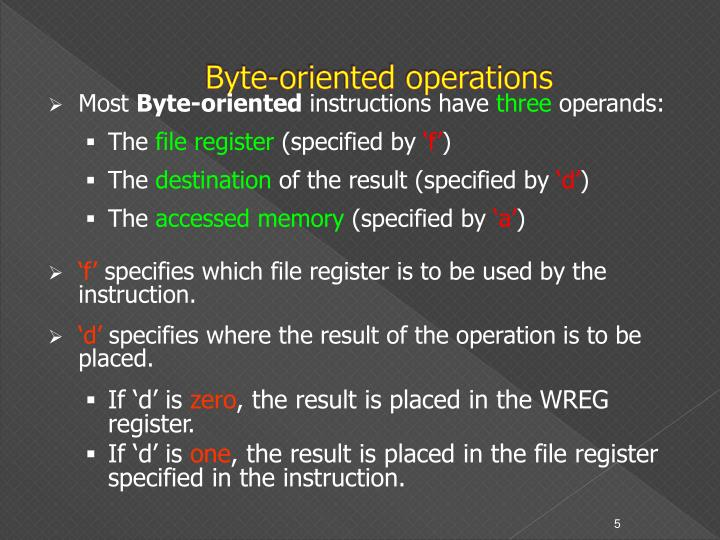 Byte-oriented operations