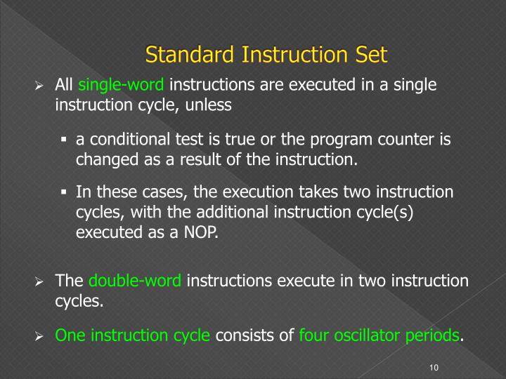 Standard Instruction Set