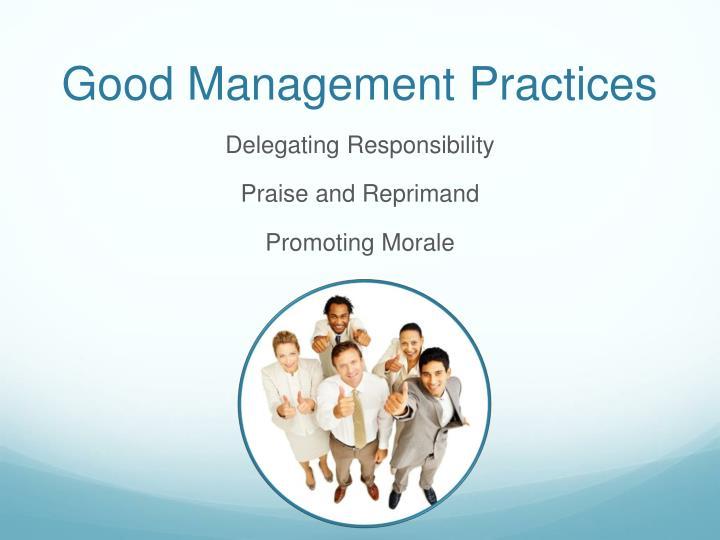 Good Management Practices