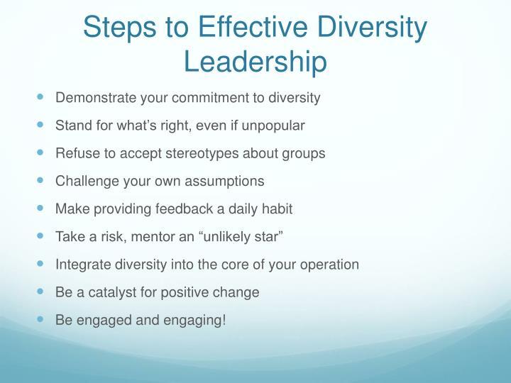 Steps to Effective Diversity Leadership