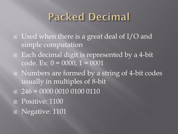 Packed Decimal