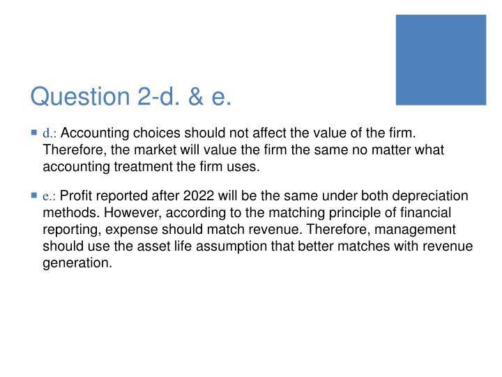 Question 2-d. & e.