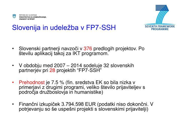 Slovenija in udeležba v FP7-SSH