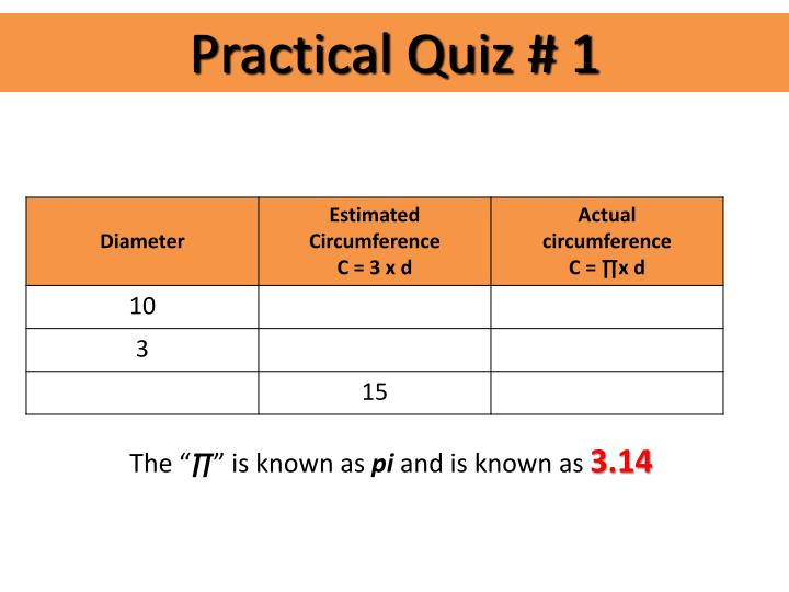 Practical Quiz # 1