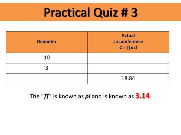 Practical Quiz # 3