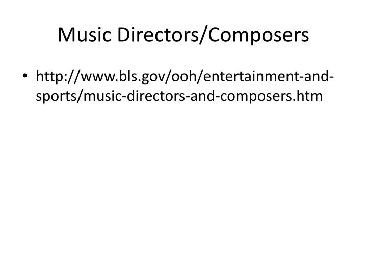 Music Directors/Composers