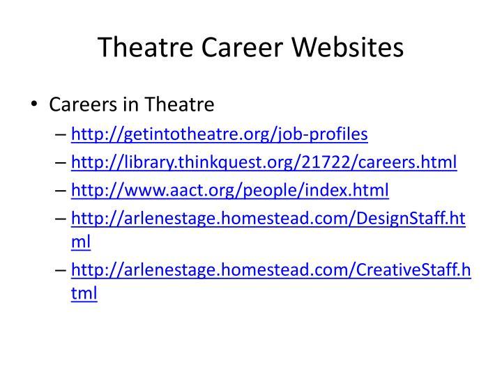 Theatre Career Websites