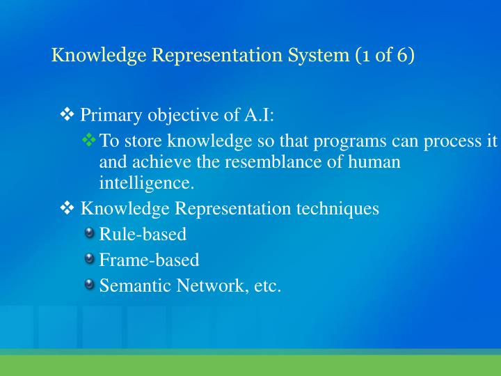 Primary objective of A.I: