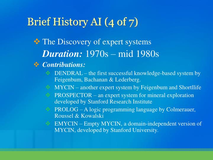 The Discovery of expert systems